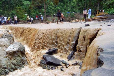 Banjir di Aceh Singkil Semakin Meluas