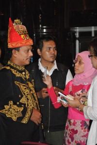 Bupati Bireuen H Ruslan Daud diacara launching Festival Seudati di Jakarta (Foto Deffi Adha)