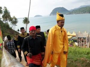 Upacara Seumeuleung Raja Daya di Lamno, Aceh Jaya, Minggu (28/10)