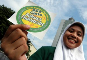Aku cinta bahasa Indonesia (Foto mizan.com)