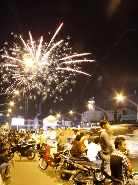 Kembang api meriahkan Idul Adha di Banda Aceh