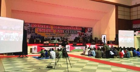 Suasana di Konser Paletina sesaat sebelum dimulai (Foto Twitter @resadbaser)
