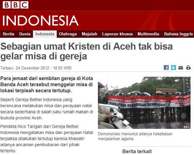 Terus Jaga Kerukunan Beragama di Aceh