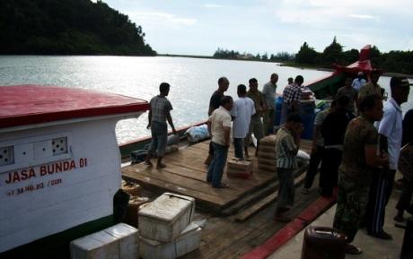 Dermaga di gampong Gugop (Foto M Iqbal)