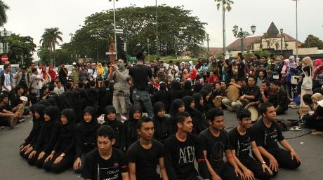 Aksi battle alat musik tradisional Aceh, Serune Kale (Foto Dok Panitia)