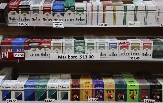 Sebuah kios rokok di New York (AP)