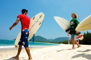 Peselancar dari berbagai dunia juga turut dari kompetisi surfing di Aceh (Chaideer Mahyuddin/ACEHKITA.COM)