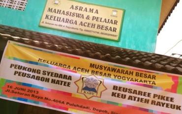 Mahasiswa Aceh Besar di Yogyakarta Butuh Asrama