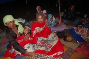 Warga yang mengungsi akiba gempa di Takengon (RRI)