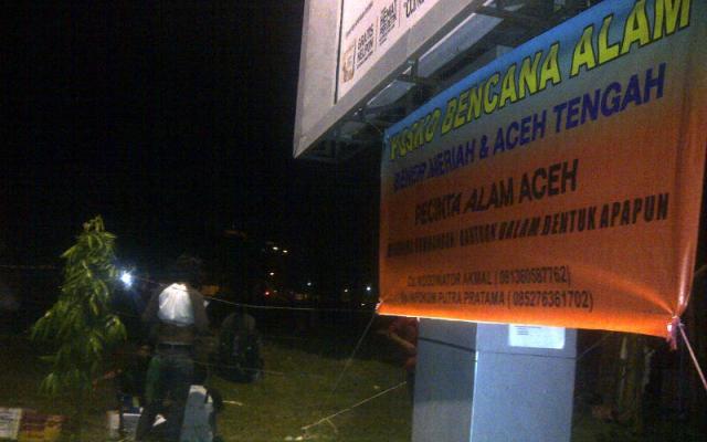 Posko Pecinta Alam disamping Masjid Raya Baiturrahman (Ist)