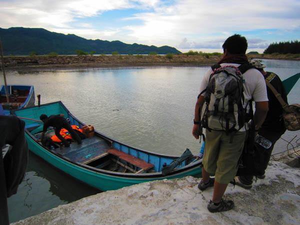 Transportasi menuju Pulau Bunta (M Iqbal/SeputarAceh.com)