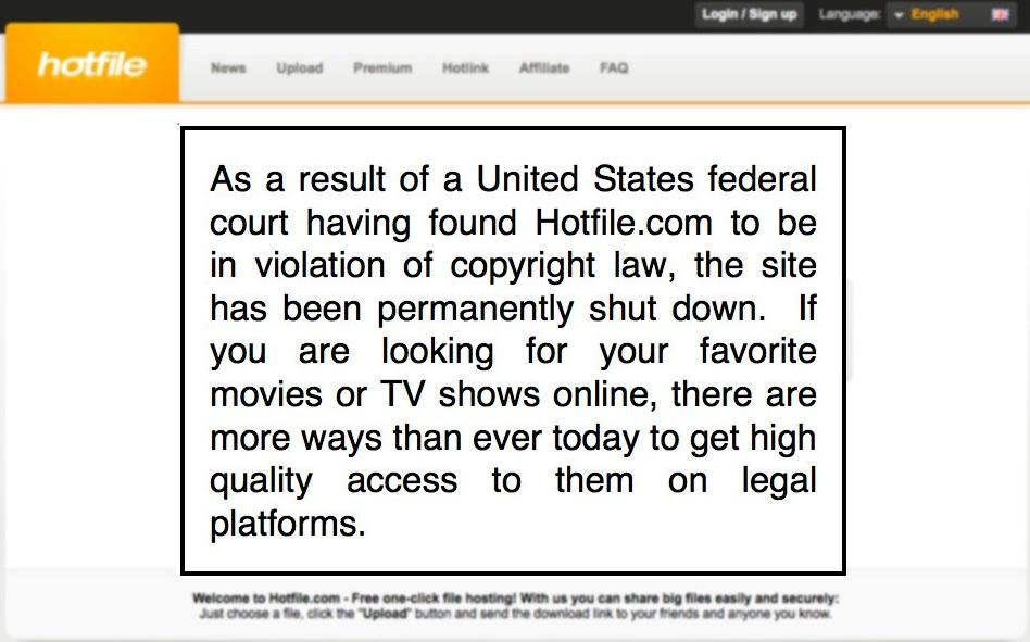 Tampilan laman Hotfile.com (Ist)