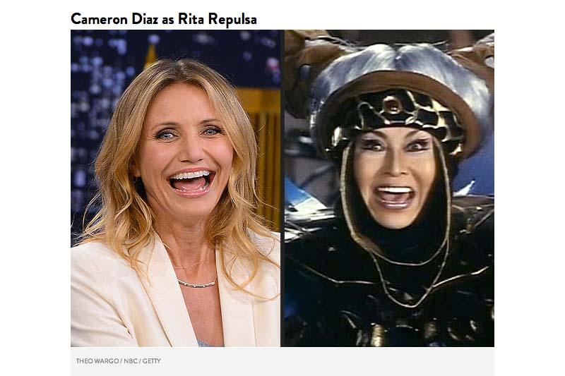 Cameron Diaz sebagai penyihir gila, Rita Repulsa
