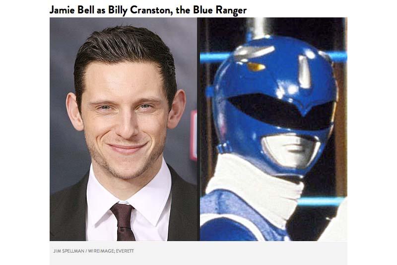 Jamie Bell sebagai Billy Cranston Blue Ranger