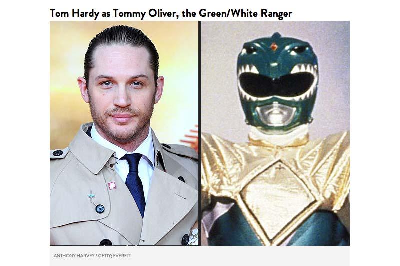 Tom Hardy sebagai Tommy Oliver White Ranger
