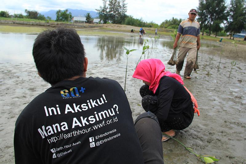 Ini Aksiku Mana Aksi Mu, slogan dari relawan EH Aceh (Foto M Iqbal-SeputarAceh.com)