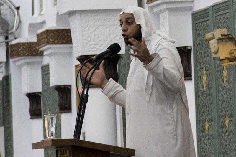 Syekh Ali Jaber memberikan tausiah dalam rangka peringatan 10 tahun Tsunami di Masjid Raya Baiturrahman (Foto M Iqbal/SeputarAceh.com)