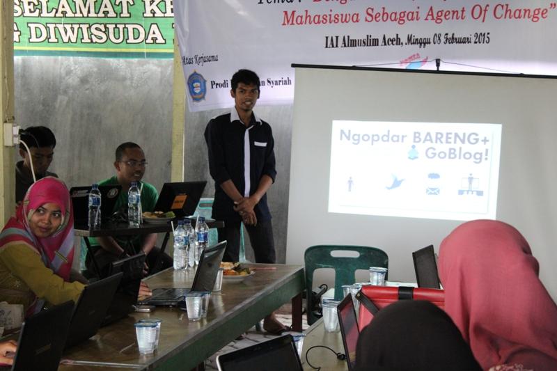 Kopdar dan blogshop di IAI Almuslim Paya Lipah