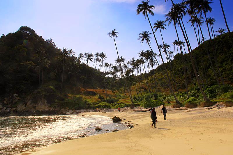 Lelah menikmati medan, wisatawan juga bisa menikmati keindahan ujung barat Pulau Batee (Foto M Iqbal/SeputarAceh.com)